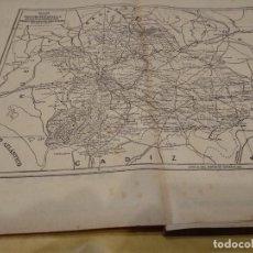 Coleccionismo de carteles: SEVILLA - MAPA Y PUBLICIDAD - ANUARIO GENERAL DE ESPAÑA AÑO 1958 - BAILLY BALLIERE RIERA. Lote 116099115