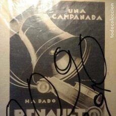 Coleccionismo de carteles: PUBLICIDAD. AUTOMOVILISMO. COCHES. AUTOMOVILES RENAULT. DIBUJO DE ROBERTO. ART-DECO. 1929.. Lote 116143739