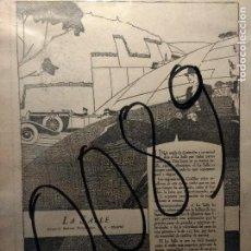 Coleccionismo de carteles: PUBLICIDAD. AUTOMOVILISMO. COCHES. GENERAL MOTORS. LA SALLE. ART-DECO. 1928.. Lote 116144007
