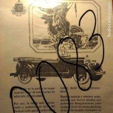 Coleccionismo de carteles: PUBLICIDAD. AUTOMOVILISMO. COCHES. PACKARD. 1928.. Lote 116146011