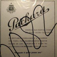 Coleccionismo de carteles: PUBLICIDAD. AUTOMOVILISMO. COCHES. PACKARD. 1927.. Lote 116146271