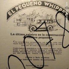 Coleccionismo de carteles: PUBLICIDAD. AUTOMOVILISMO. COCHES. WHIPPET. 1927.. Lote 116154347