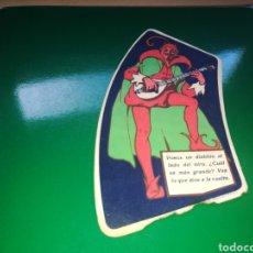 Coleccionismo de carteles: RARA PUBLICIDAD DIABLITO DE ASPIRINAS BAYER. MUY ANTIGUA. Lote 116254311