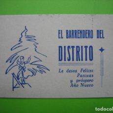Coleccionismo de carteles: CARTELITO PUBLICITARIO EL BARRENDERO DE DISTRITO. Lote 116631491