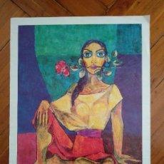 Coleccionismo de carteles: LAMINA PALAU FERRE - CARTELL EXPOSISIO AL CASTELL MONESTIR D'ESCORNALBOU - JULIOL 1998. Lote 121065270