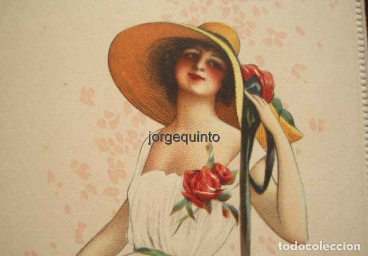 Coleccionismo de carteles: CARTEL. PUBLICIDAD DE PRODUCTOS SANOLÁN-SAN SEBASTIÁN. HACIA 1920. JULIO RUZAFA MONTOYA. MURCIA - Foto 4 - 118893739