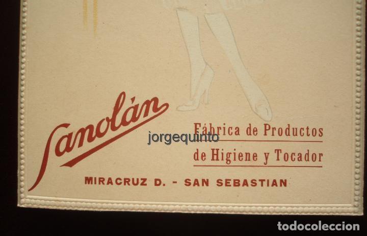 Coleccionismo de carteles: CARTEL. PUBLICIDAD DE PRODUCTOS SANOLÁN-SAN SEBASTIÁN. HACIA 1920. JULIO RUZAFA MONTOYA. MURCIA - Foto 5 - 118893739