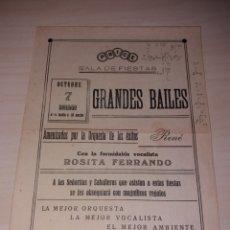 Coleccionismo de carteles: PEQUEÑO CARTEL PUBLICIDAD SALA DE FIESTAS PRICE - TENERIFE - AÑOS 30?. Lote 119002980
