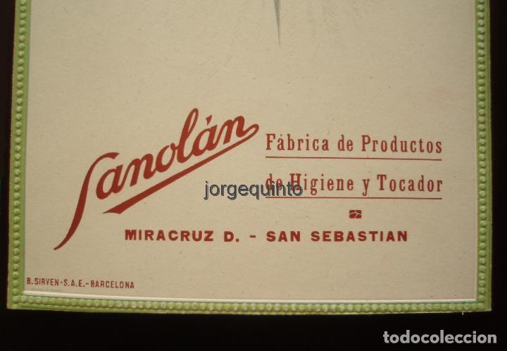 Coleccionismo de carteles: CARTEL. PUBLICIDAD DE PRODUCTOS SANOLÁN-SAN SEBASTIÁN. HACIA 1920. JULIO RUZAFA MONTOYA. MURCIA - Foto 5 - 119011083
