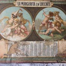 Coleccionismo de carteles: CALENDARIO SIN HOJAS DE LA MARGARITA EN LOECHES. PRINCIPIOS DEL S. XX. Lote 119284735