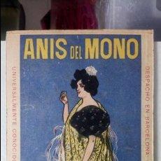 Coleccionismo de carteles: ANÍS DEL MONO. CARTEL DE CARTÓN DURO. MEDIDAS 19CM X 11 CM.. Lote 119853079