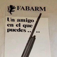 Coleccionismo de carteles: ANTIGUA PUBLICIDAD DEL RIFLE FABARM 1986 / 24,5X9CM / ORIGINAL. Lote 120034759