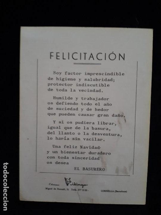 Coleccionismo de carteles: El barrendero. Felices Pascuas. Ed. Vikingo - Foto 2 - 120908987