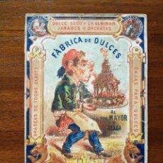 Coleccionismo de carteles: FABRICA DE DULCES HIJOS DE JUSTO SAGARRA - BARCELONA - SIGLO XIX - PRECIOSA LITOGRAFÍA. Lote 120928711
