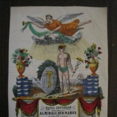 Coleccionismo de carteles: PAPEL SUPERIOR-ALMIRALL HERMANOS-CAPELLADES - CARTEL PUBLICIDAD-MIDE 14 X19 CM.-VER FOTOS-(V-14.520). Lote 121063411