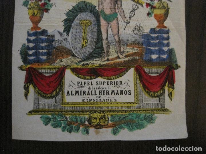 Coleccionismo de carteles: PAPEL SUPERIOR-ALMIRALL HERMANOS-CAPELLADES - CARTEL PUBLICIDAD-MIDE 14 X19 CM.-VER FOTOS-(V-14.520) - Foto 3 - 121063411