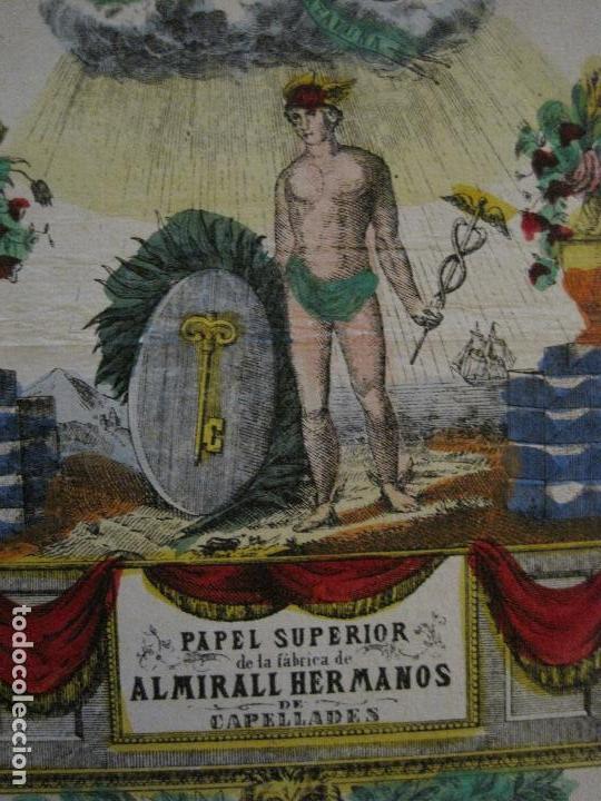 Coleccionismo de carteles: PAPEL SUPERIOR-ALMIRALL HERMANOS-CAPELLADES - CARTEL PUBLICIDAD-MIDE 14 X19 CM.-VER FOTOS-(V-14.520) - Foto 4 - 121063411