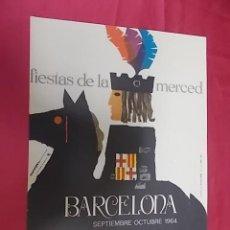 Coleccionismo de carteles: CARTEL. FIESTAS DE LA MERCED. BARCELONA 1964. . Lote 121190579