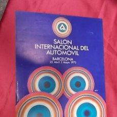 Coleccionismo de carteles: CARTEL. SALON INTERNACIONAL DEL AUTOMOVIL. BARCELONA. MAYO 1972. Lote 121563475