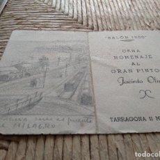 Coleccionismo de carteles: OLIVE I FONT, JACINT - 1896-1967 PINTOR 2 DIBUJOS - VER FOTO SALON 1800 1948 - DIBUJOS DE TARRAGONA. Lote 121888395
