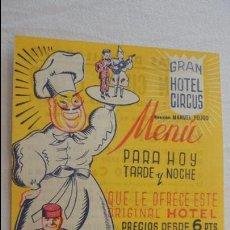 Coleccionismo de carteles: ANTIGUO MINI CARTEL PROGRAMA.GRAN CIRCO FEIJOO.HOTEL CIRCUS.FIESTAS VALLADOLID.POMPOFF.AÑOS 50?. Lote 125234191