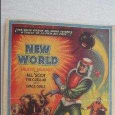 Coleccionismo de carteles: ANTIGUO MINI CARTEL PROGRAMA.CIRCO HUNGRIA.NEW WORLD ALL SCOT.CUELLAR ANS SPACE GIRLS.JOE AND KAY. Lote 125234483