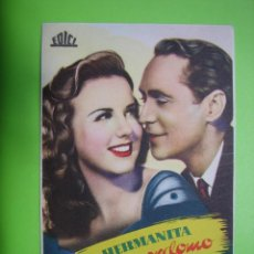 Coleccionismo de carteles: 11 PROGRAMA DE CINE. LA HERMANITA DEL MAYORDOMO. Lote 125445923