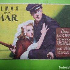 Coleccionismo de carteles: 11 PROGRAMA DE CINE. ALMAS EN EL MAR. CINE AZUL. Lote 125446007