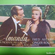 Coleccionismo de carteles: 11 PROGRAMA DE CINE. AMANDA. Lote 125446171