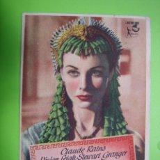 Coleccionismo de carteles: 11 PROGRAMA DE CINE. CESAR Y CLEÓPATRA. TEATRO PRINCIPAL. Lote 125446335