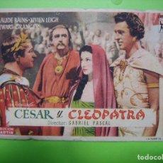 Coleccionismo de carteles: 11 PROGRAMA DE CINE. CESAR Y CLEÓPATRA. . Lote 125446379