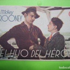 Coleccionismo de carteles: 11 PROGRAMA DE CINE. EL HIJO DEL HÉROE. Lote 125446531