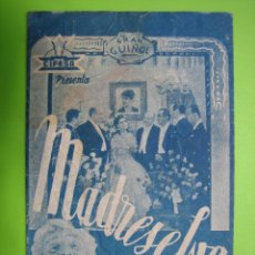 Coleccionismo de carteles: 11 PROGRAMA DE CINE. MADRE SELVA. Lote 125446571