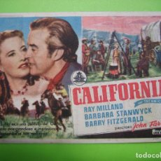 Coleccionismo de carteles: 11 PROGRAMA DE CINE. CALIFORNIA. Lote 125446855