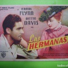 Coleccionismo de carteles: 11 PROGRAMA DE CINE. LAS HERMANAS.. Lote 125447071
