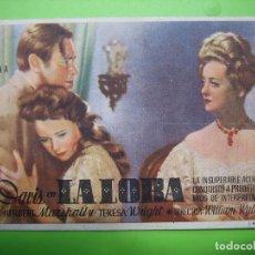 Coleccionismo de carteles: 11 PROGRAMA DE CINE. LA LOBA. TEATRO PRINCIPAL. Lote 125447187