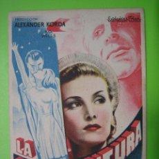 Coleccionismo de carteles: 11 PROGRAMA DE CINE. LA VIDA FUTURA. Lote 125449327