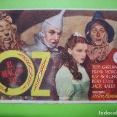 Coleccionismo de carteles: 11 PROGRAMA DE CINE. EL MAGO DE OZ. Lote 125449439