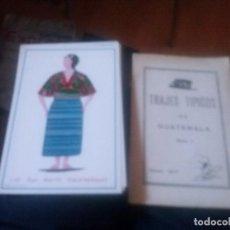 Coleccionismo de carteles: LOTE DE 10 LAMINAS DE TRAJES TIPICOS DE GUATEMALA SERIE 1 SAROP 1971. Lote 126480215