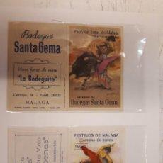 Coleccionismo de carteles: DOS FOLLETOS MANO TOROS MÁLAGA 1965 1966. Lote 127110551