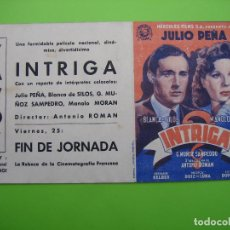 Coleccionismo de carteles: PROGRAMA DE CINE. CINE YAVOY.INTRIGA. Lote 127928095