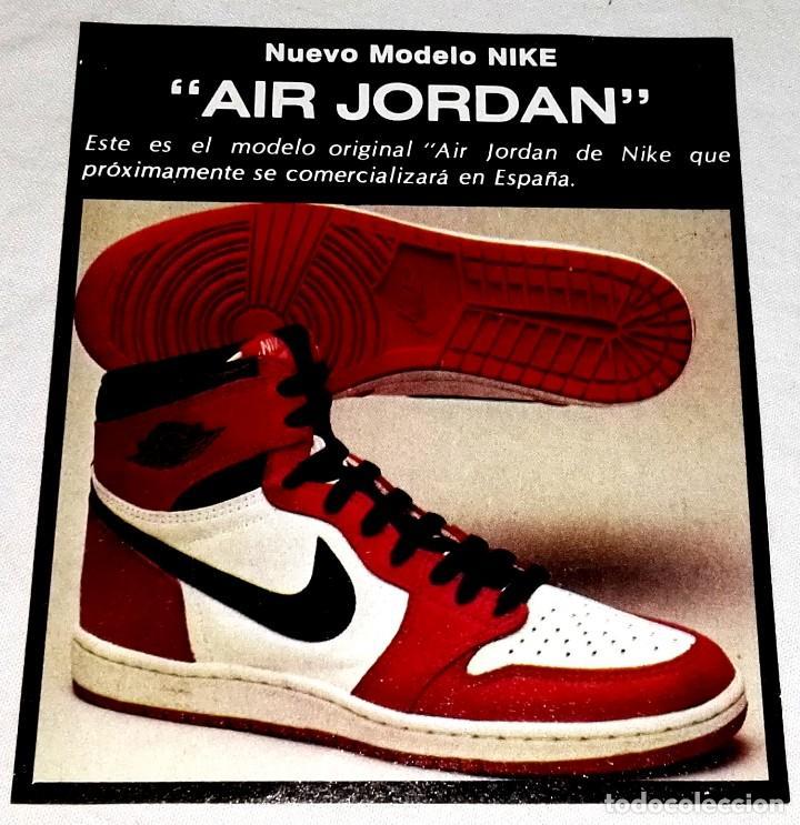 caloría gráfico igual  Antigua publicidad zapatillas nike air jordan - - Vendido en Venta Directa  - 128050267