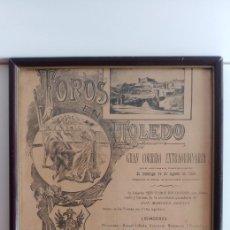 Coleccionismo de carteles: CUADRO DE CARTEL DE TOROS VINTAGE 1894. Lote 128630212