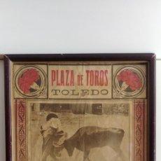 Coleccionismo de carteles: CADRO DE CARTEL TOROS VINTAGE 1925. Lote 128697032