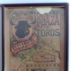 Coleccionismo de carteles: CUADRO DE CARTEL DE TOROS VINTAGE 1907. Lote 128697416