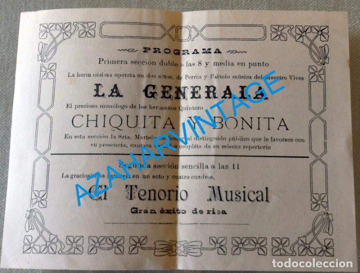 Coleccionismo de carteles: CHICLANA DE LA FRONTERA, 1917,SALON G.GUTIERREZ, FUNCION A BENEFICIO DE PEPITA MARTELO, LEER MEDIDAS - Foto 2 - 128815787
