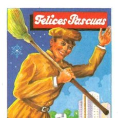 Coleccionismo de carteles: FELICITACIONES DE NAVIDAD - FELICES PASCUAS - EL BARRENDERO.. Lote 40034776