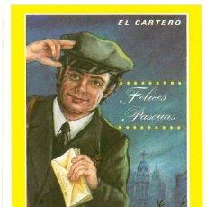 Coleccionismo de carteles: CORREOS - EL CARTERO - FELICES PASCUAS - FELICITACIONES.. Lote 81914668
