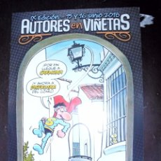 Colecionismo de cartazes: CARTEL: AUTORES EN VIÑETAS. IX EDICIÓN 2018. CARMONA (SEVILLA). SUPERLOPEZ. JAN. SUPER LOPEZ (ST/A6). Lote 175989174