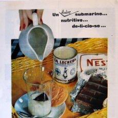 Coleccionismo de carteles: LÁMINA PUBLICIDAD LECHE CONDENSADA LA LECHERA. ORIGINAL 1959. Lote 131292283